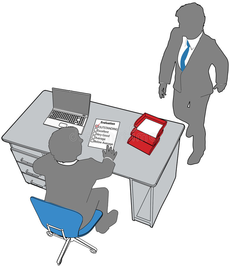 Business people human resources office evaluation royalty free illustration