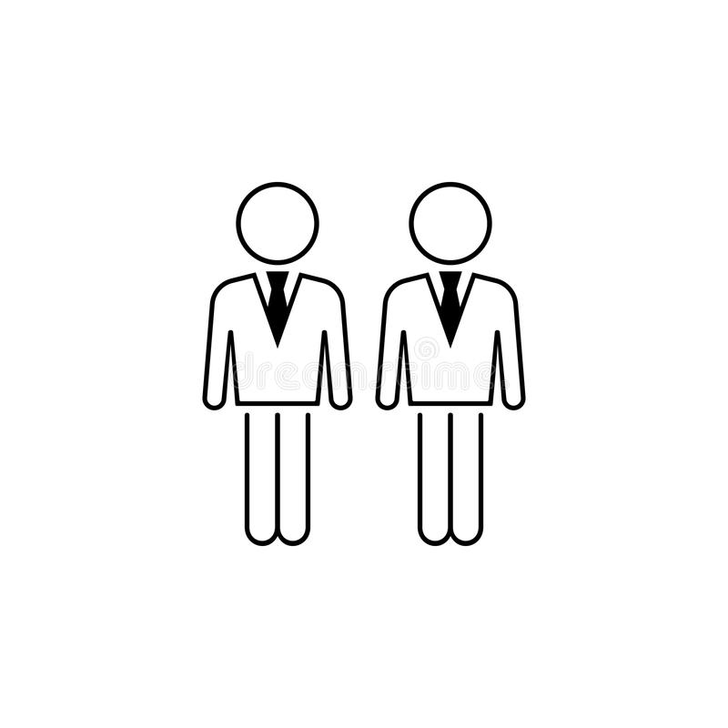 business people icon. Element of business icon for mobile concept and web apps. Thin line business people icon can be used for web vector illustration
