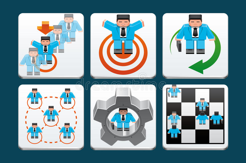 Business people icons stock illustration