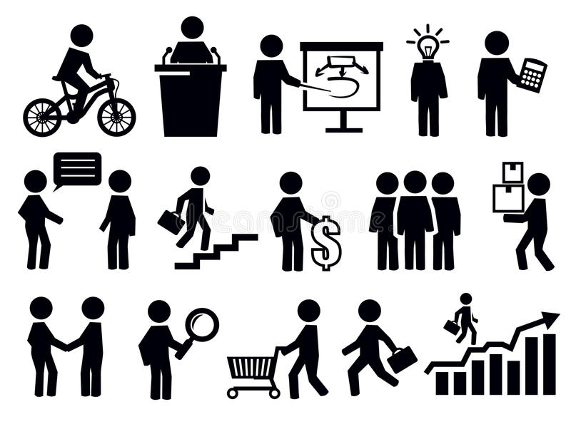 Download Business people icons stock vector. Image of teamleader - 30555058