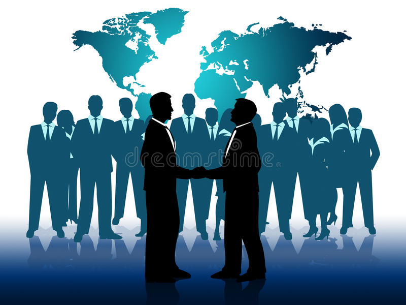 Business People Indicates Work Together And Businesspeople stock illustration