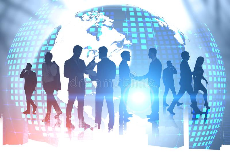 Business people and international partnership stock photos