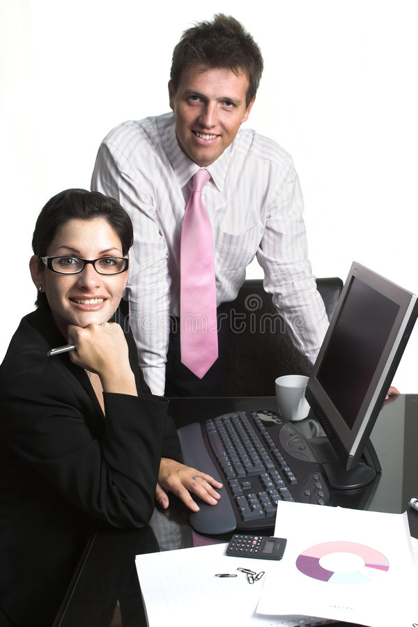 Business people - isolated royalty free stock photo