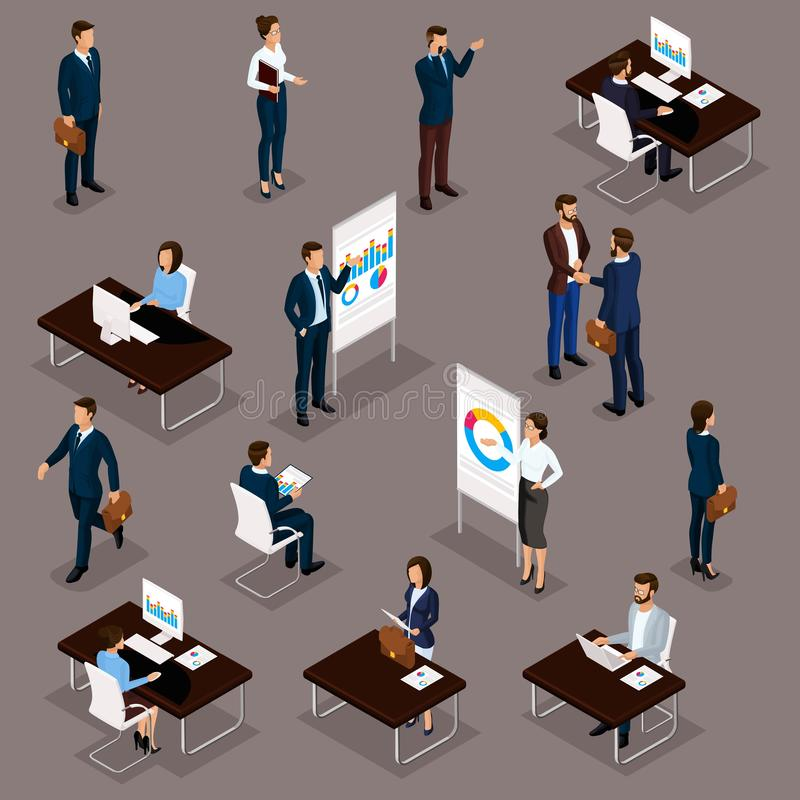 Free Business People Isometric Set Of Men And Women In The Office Business Suits Isolated Vector Illustration Royalty Free Stock Photo - 139307395