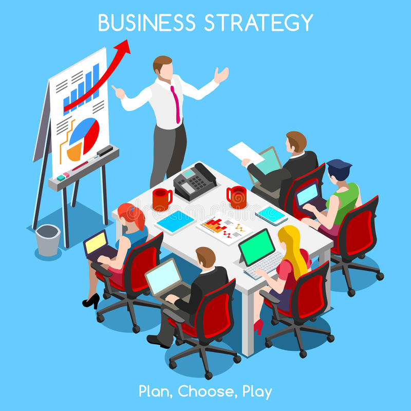 Business 07 People Isometric vector illustration