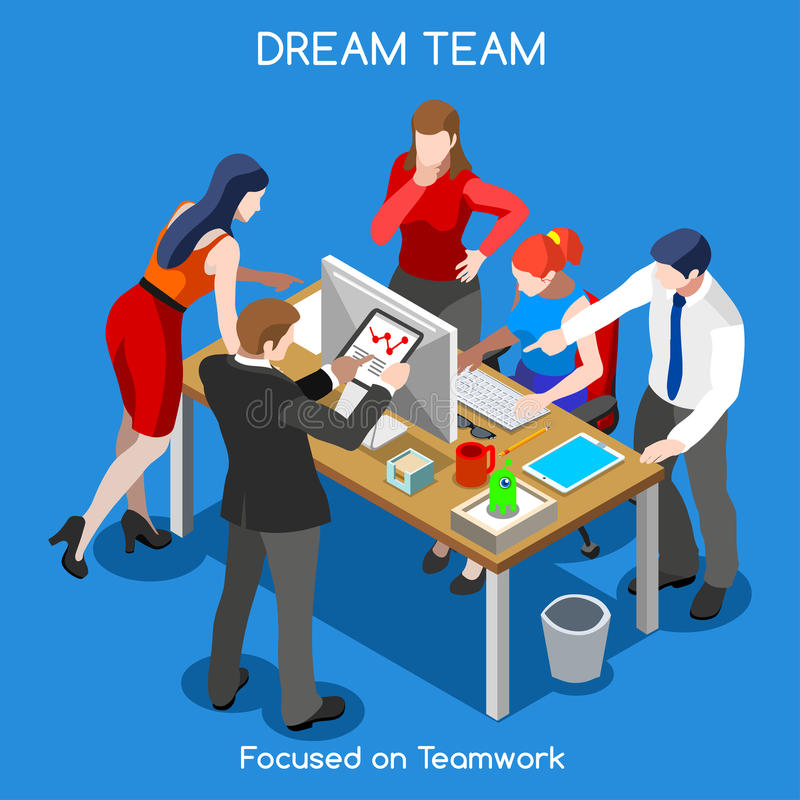 Business 05 People Isometric stock illustration