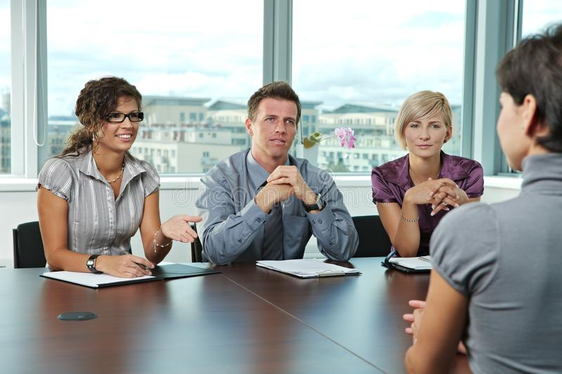 Download Business People At Job Interview Stock Photo - Image of businesswoman, cooperation: 11369446