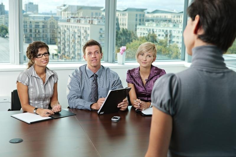 Download Business People At Job Interview Stock Photo - Image of hire, application: 13211006
