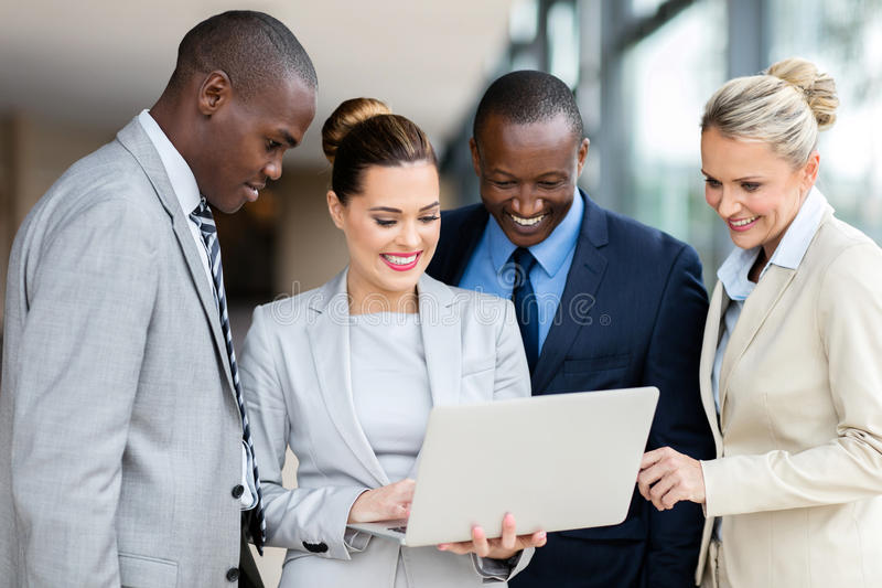 Business People Laptop Computer Stock Photo Image Of