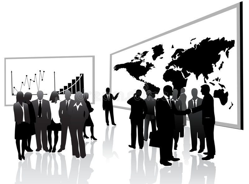 Download Business People And Lecture Stock Vector - Image: 8298420