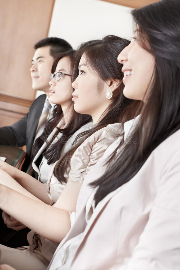 Business People Listening In Meeting Stock Photos