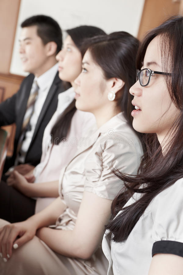 Business People Listening In Meeting Stock Images