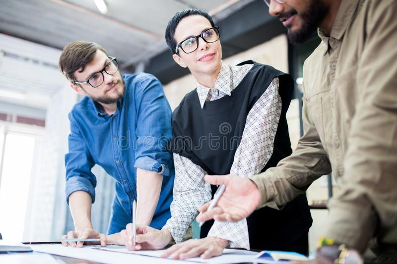 Working in team at office royalty free stock photography