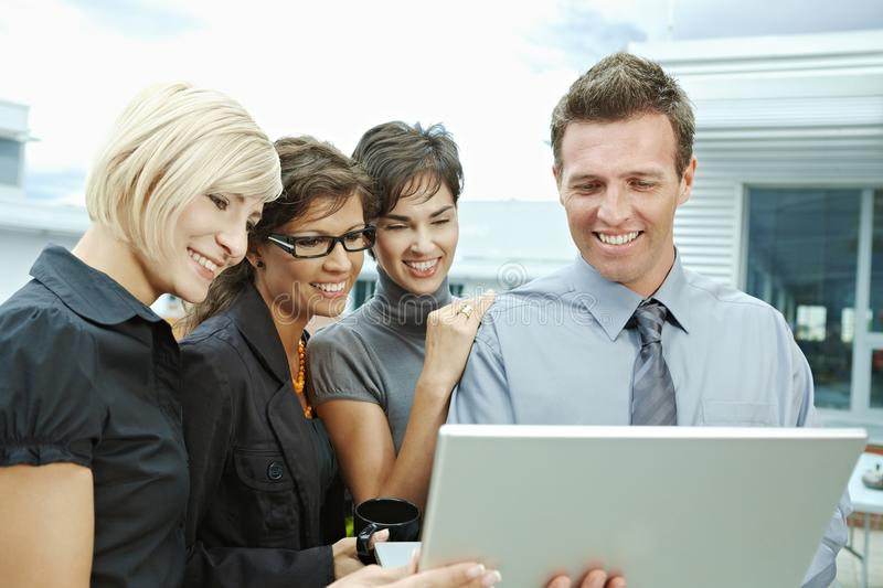 Download Business People Looking At Laptop Stock Image - Image: 19773593