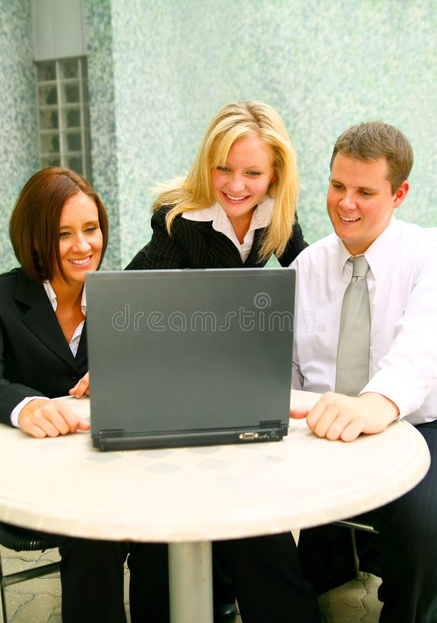 Download Business People Looking At Laptop Stock Image - Image: 6571225