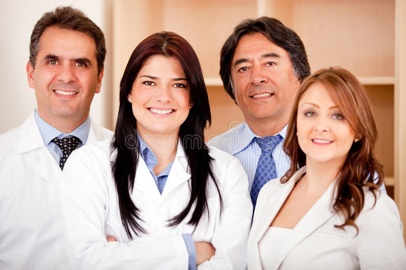 Business people and medical staff