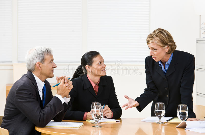 Download Business people in meeting stock image. Image of self - 17054549