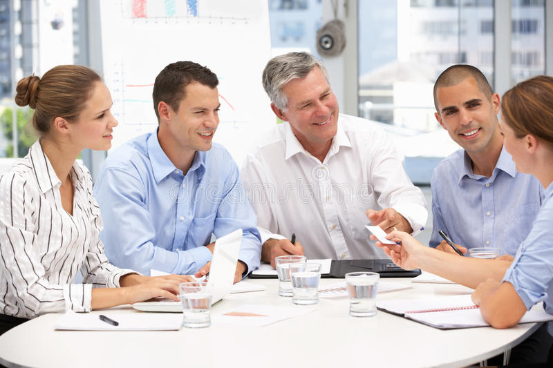 Download Business people in meeting stock image. Image of presenting - 20597061