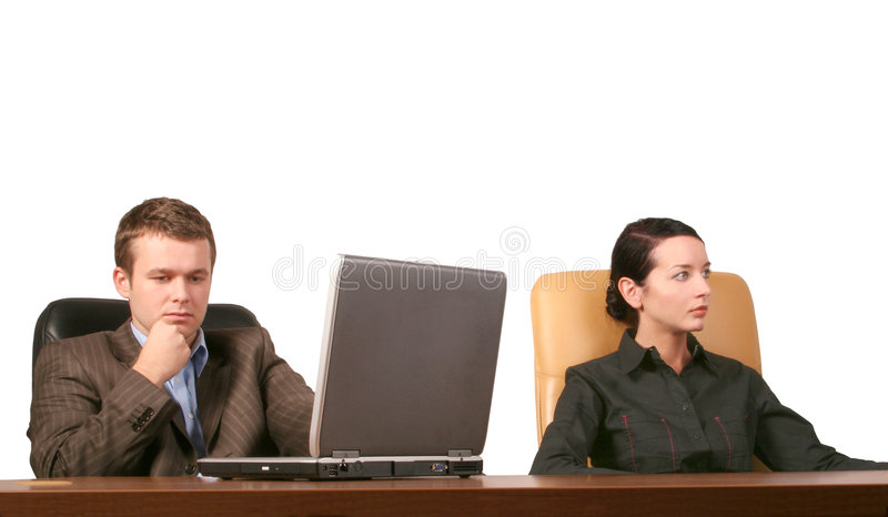 Business people at the meeting stock photos