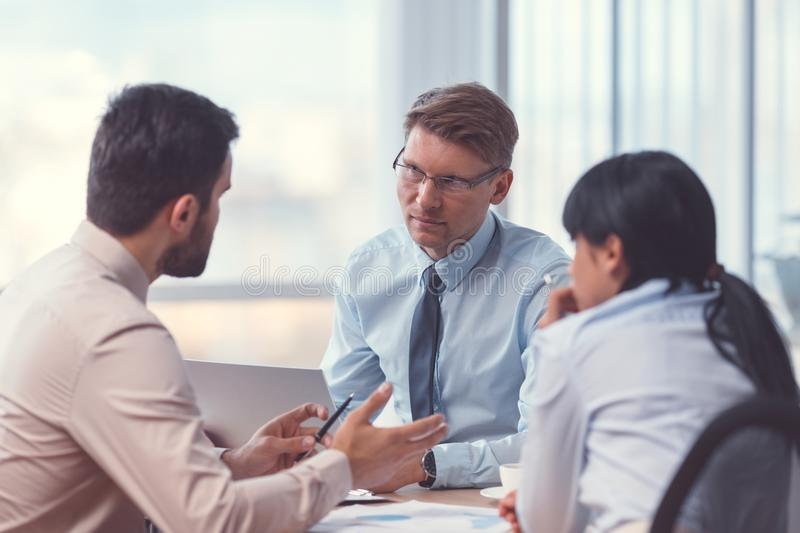 Business people at the meeting royalty free stock image