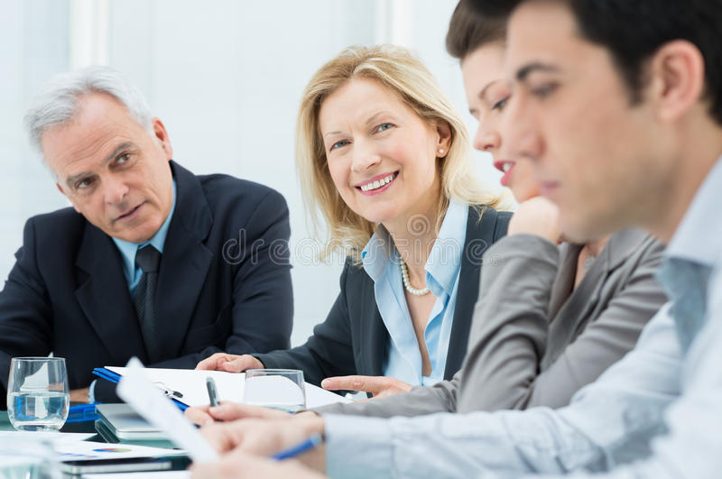 Business People In Meeting Royalty Free Stock Image