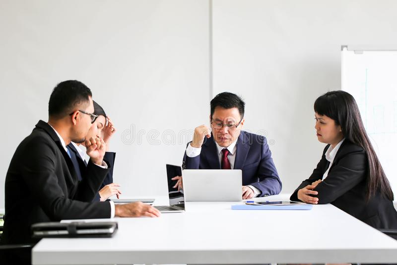 Business People Meeting Communication Discussion Working Office ,Meeting Corporate Success Brainstorming Teamwork Concept stock photo