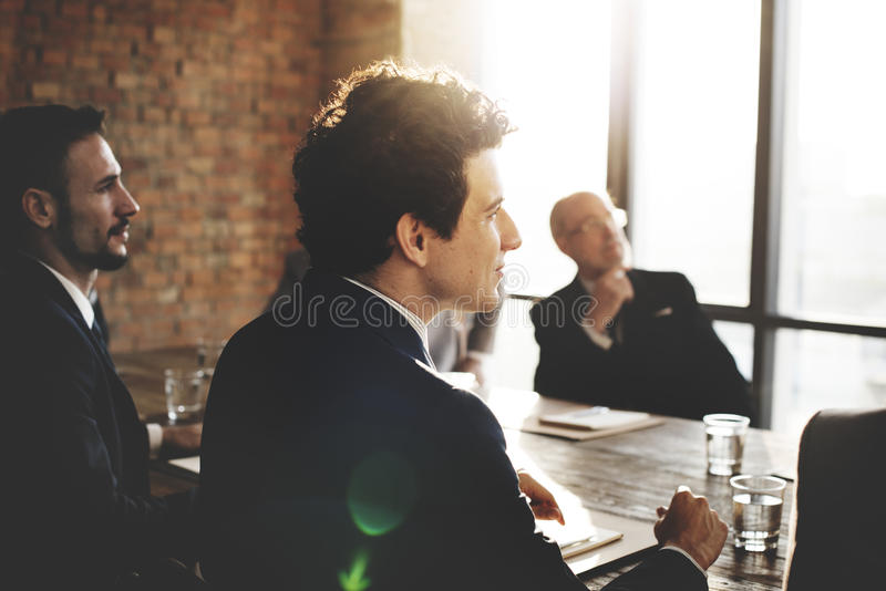 Business People Meeting Conference Brainstorming Concept.  royalty free stock image