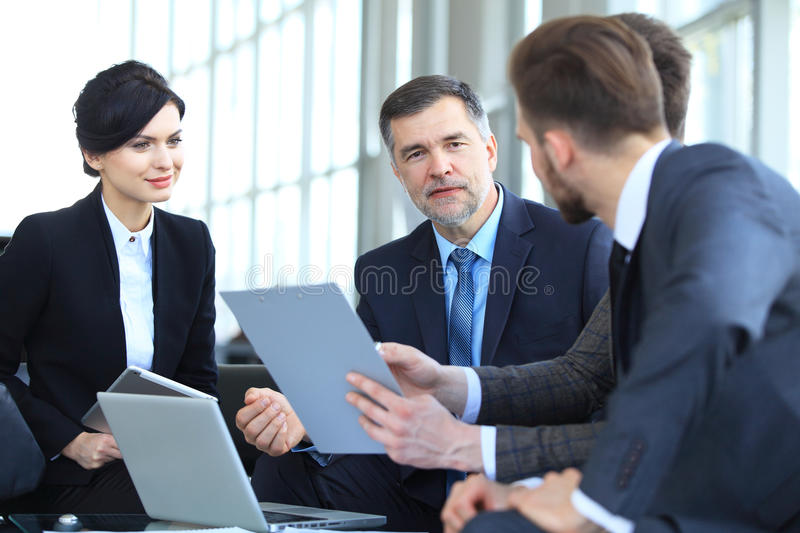 Business People Meeting Conference Discussion Corporate Concept. royalty free stock photo