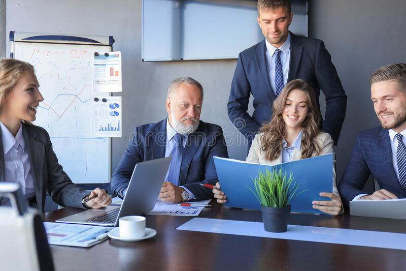 Business people meeting conference discussion corporate concept.  stock photography