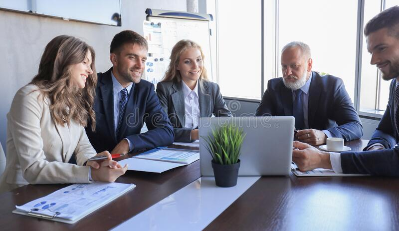 Business people meeting conference discussion corporate concept.  royalty free stock images