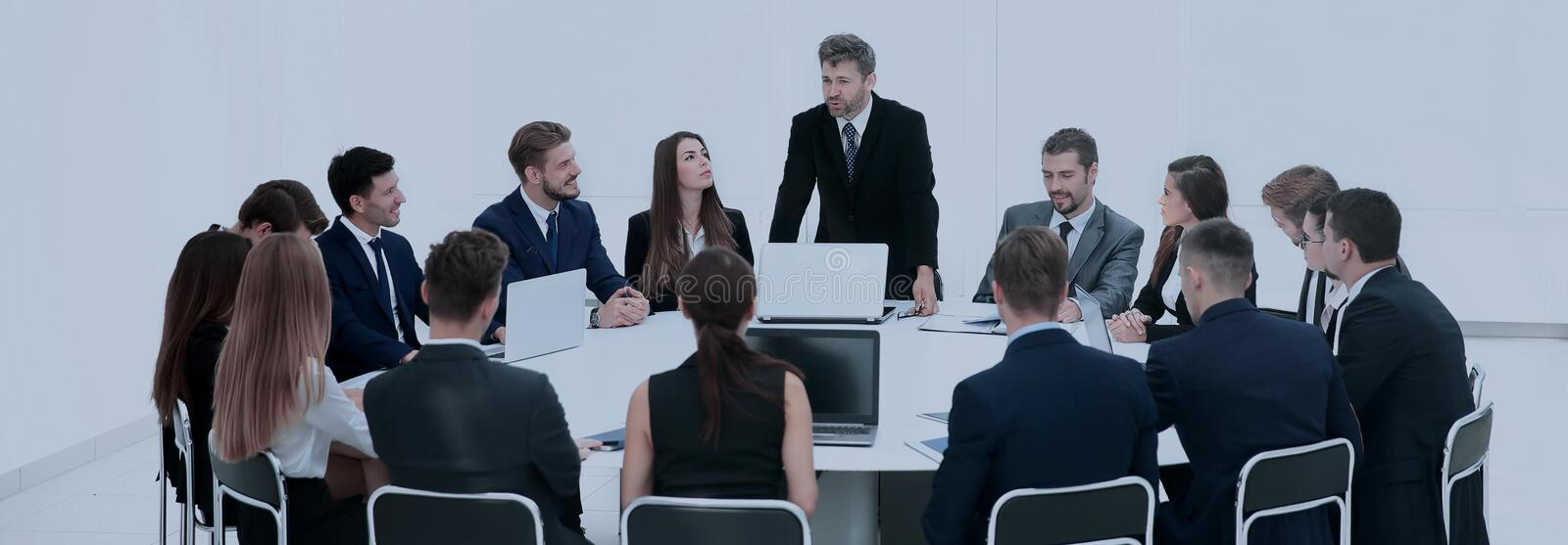 Indoor business conference for managers. royalty free stock photo