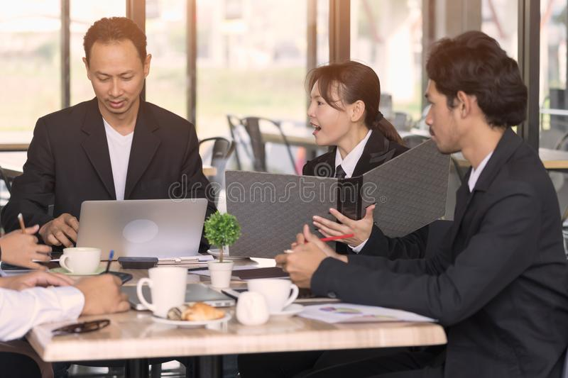 Business people meeting corporate communication teamwork concept. stock photos