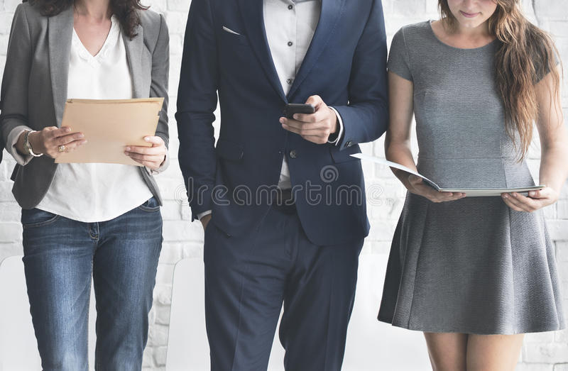 Business People Meeting Corporate Digital Device Connection Concept.  stock photo