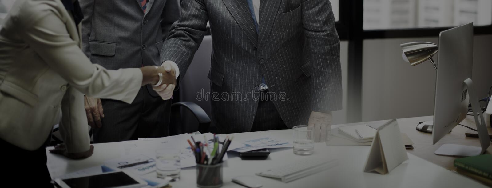 Business People Meeting Corporate Handshake Greeting Concept royalty free stock photos