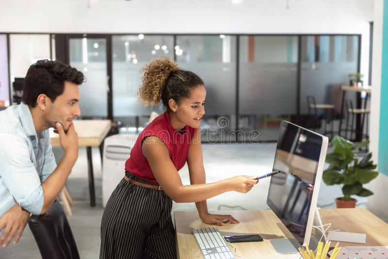 Business People are Meeting Discussing About Their Project and  Problem Solving in Conference Room, Young Business Woman is stock photo