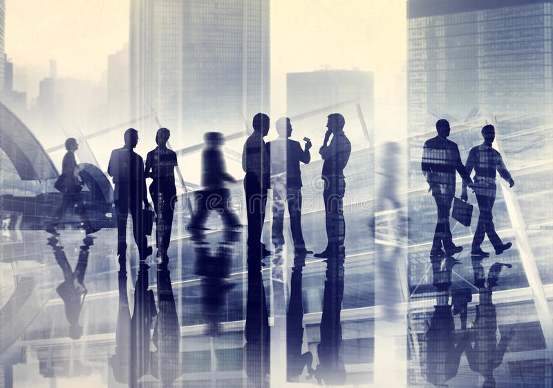 Business People Meeting Discussion Cityscape Concept royalty free stock photography