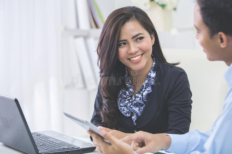 business people at the meeting stock photography