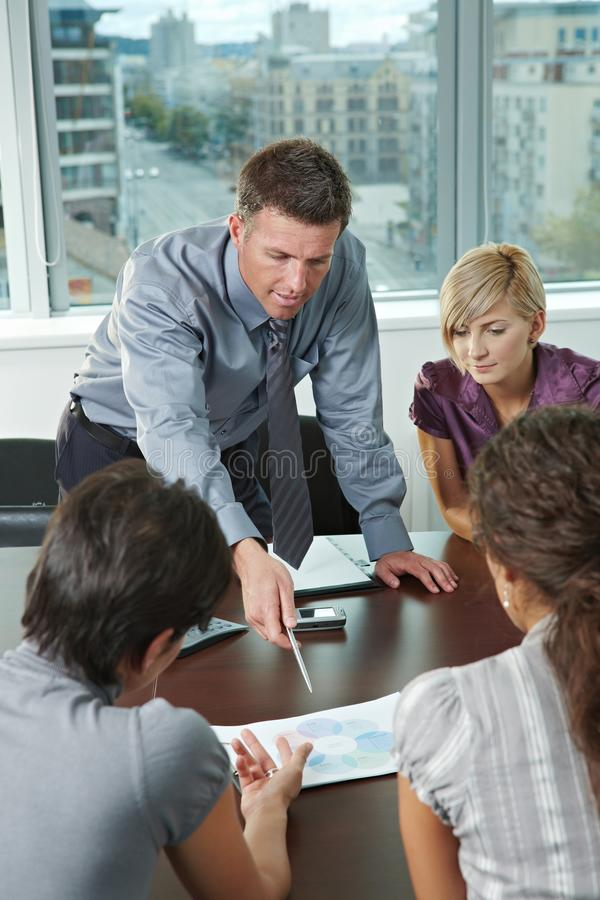 Business people meeting at office stock photo
