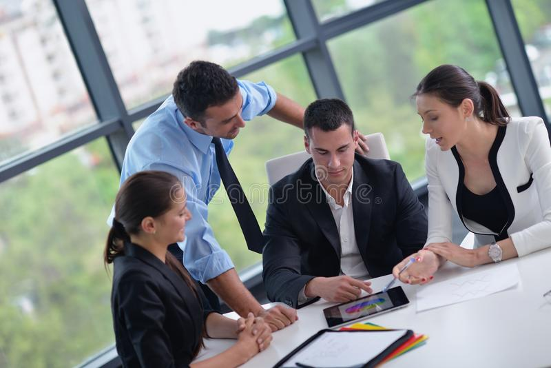 Business people in a meeting at office stock photography