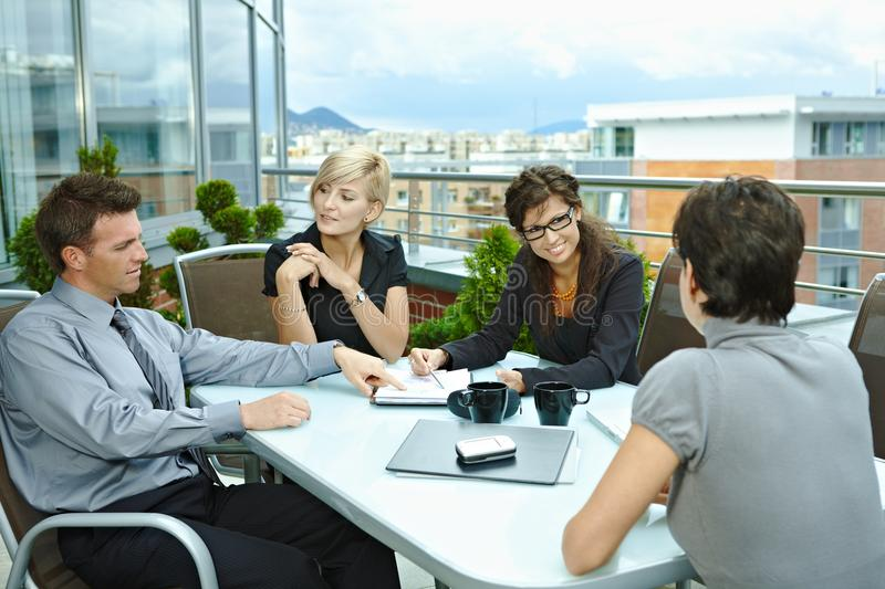 Download Business People Meeting Outdoor Stock Image - Image: 19773599