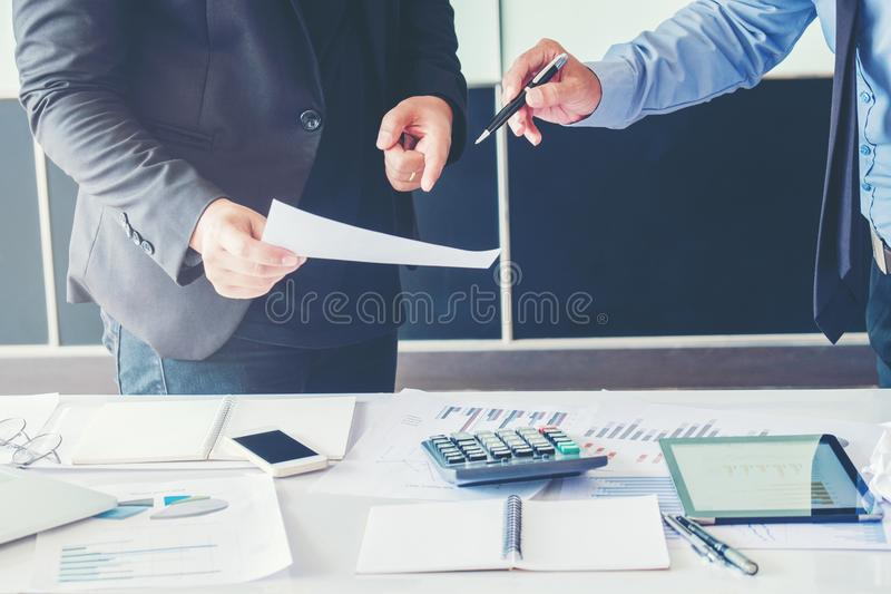 Business People meeting Planning Strategy Analysis on new business project Concept stock photography
