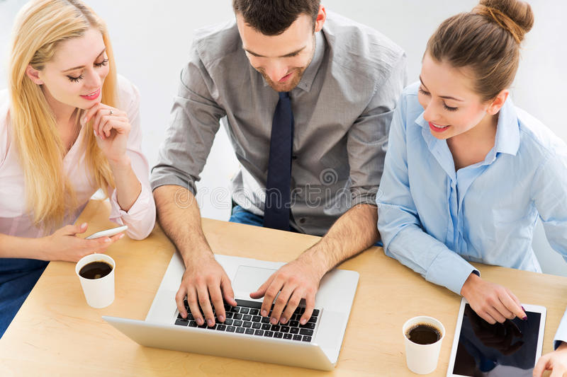 Business people meeting at table royalty free stock photos