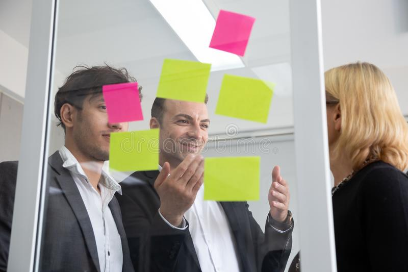 Business people meeting team, briefing and discussing new plan. Analyzing with teamwork on project in office royalty free stock images