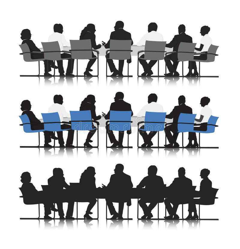 Business people meeting vector stock illustration