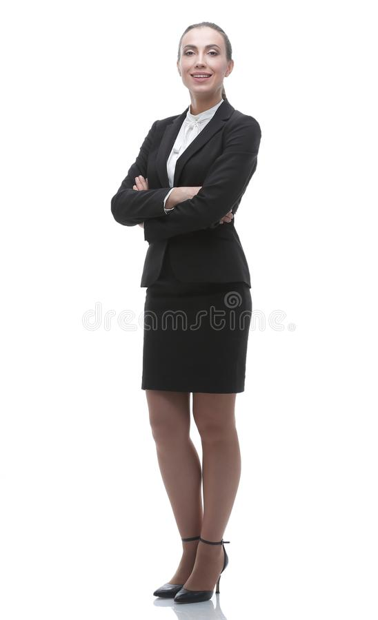 In full growth. confident female office Manager. Business people. modern woman is the office Manager .photo with blank space stock photos