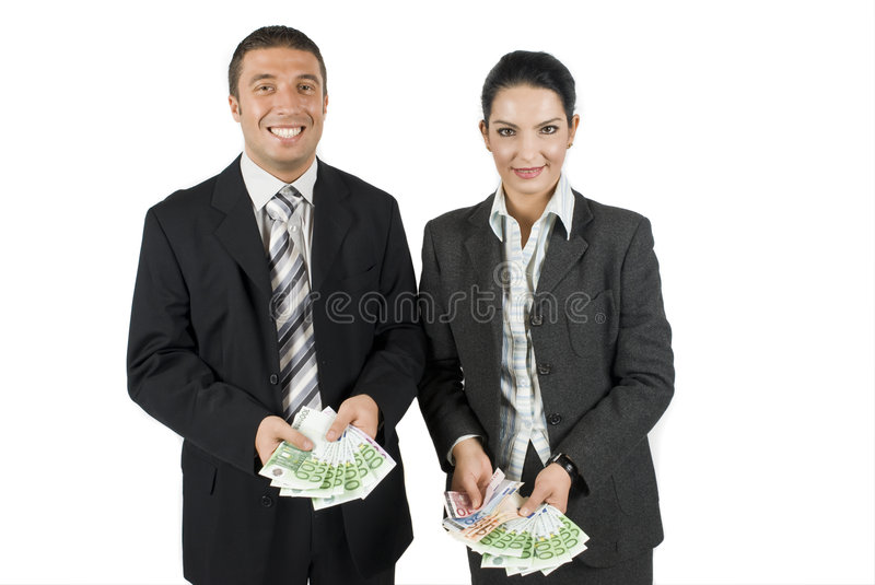 Download Business people with money stock photo. Image of smiling - 6843798
