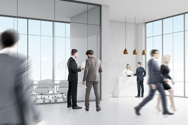 Download Business People Near Reception Stock Illustration - Image: 83722178