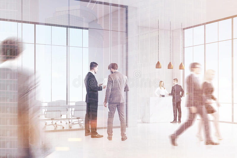 Download Business People Near Reception Stock Illustration - Image: 83722214