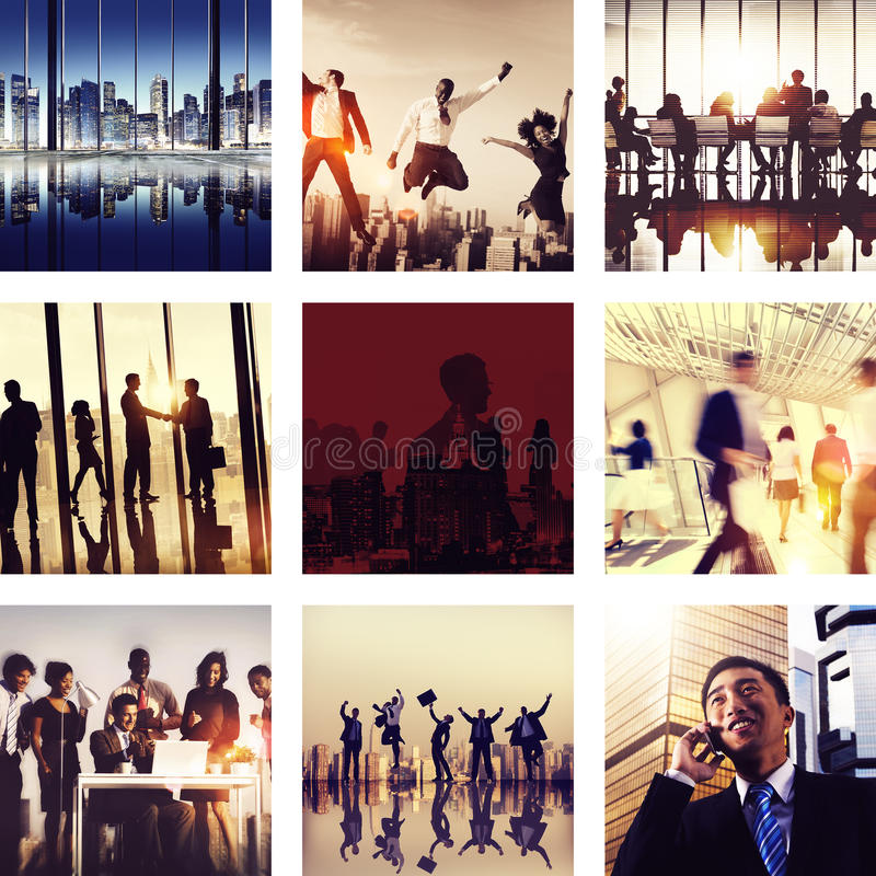 Business People New York Celebration Concept.  stock photos