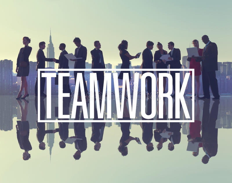 Business People New York Outdoor Meeting Teamwork Concept royalty free illustration
